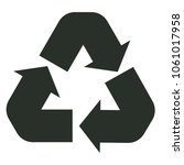 recycle icon on white... | Shutterstock .eps vector #1061017958