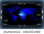 hud hi tech futuristic world...