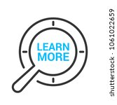 learn more icon. learning... | Shutterstock .eps vector #1061022659