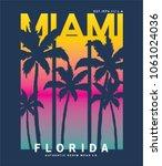 summer concept tee print vector ... | Shutterstock .eps vector #1061024036