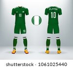 3d realistic of font and back... | Shutterstock .eps vector #1061025440