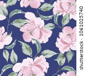 watercolor seamless pattern of... | Shutterstock . vector #1061025740
