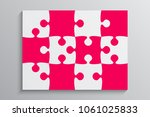 pink piece puzzle rectangle... | Shutterstock .eps vector #1061025833
