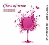 illustration a glass of wine ... | Shutterstock . vector #106103033