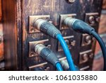 audio cables and connectors in... | Shutterstock . vector #1061035880