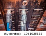 audio cables and connectors in... | Shutterstock . vector #1061035886