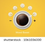 morning drink concept. vector... | Shutterstock .eps vector #1061036330