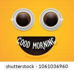smiley emoticon face with eyes... | Shutterstock .eps vector #1061036960