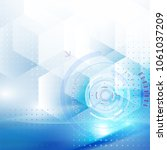 vector abstract technology... | Shutterstock .eps vector #1061037209