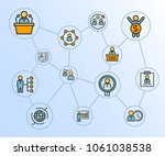 business management concept... | Shutterstock .eps vector #1061038538