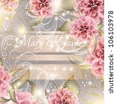 wedding card or invitation with ... | Shutterstock .eps vector #106103978