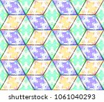 colorful seamless rhombus... | Shutterstock . vector #1061040293
