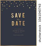 invitation card with gold and... | Shutterstock .eps vector #1061040743