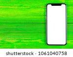 frameless mockup smartphone... | Shutterstock . vector #1061040758