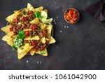 mexican nacho corn tortilla... | Shutterstock . vector #1061042900
