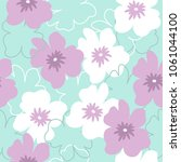 seamless pattern with white and ... | Shutterstock .eps vector #1061044100