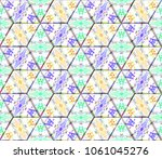 colorful seamless rhombus... | Shutterstock . vector #1061045276