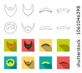 mustache and beard  hairstyles... | Shutterstock .eps vector #1061046398