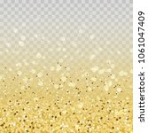 gold glitter particles and... | Shutterstock . vector #1061047409