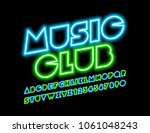 vector neon sign music club.... | Shutterstock .eps vector #1061048243