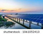 solar panel  photovoltaic ... | Shutterstock . vector #1061052413
