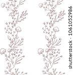 frame line from flower | Shutterstock .eps vector #1061052986