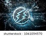 electroneum symbol underwater... | Shutterstock . vector #1061054570