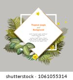 leaves tropical palm leaves... | Shutterstock .eps vector #1061055314