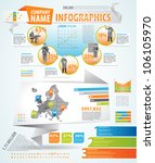 infographics master collection  ... | Shutterstock .eps vector #106105970