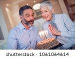 birthday surprise party.happy... | Shutterstock . vector #1061064614