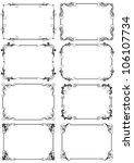 vertical frame set   Shutterstock .eps vector #106107734