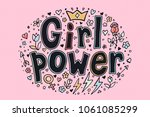 girl power quotes and... | Shutterstock .eps vector #1061085299