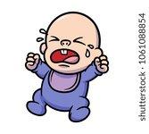 cartoon crying baby | Shutterstock .eps vector #1061088854