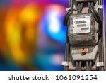 electric meters 220 kva power...   Shutterstock . vector #1061091254