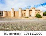 the aljaferia palace or palacio ... | Shutterstock . vector #1061112020