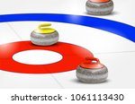 curling stones on ice rings  ... | Shutterstock .eps vector #1061113430