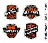 set of basketball sports logos. | Shutterstock .eps vector #1061115986
