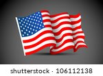 illustration of waving american ... | Shutterstock .eps vector #106112138