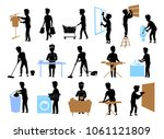collection set of male... | Shutterstock .eps vector #1061121809