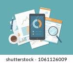 mobile auditing  data analysis  ... | Shutterstock .eps vector #1061126009