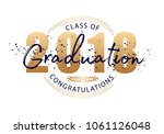 graduation label. vector text... | Shutterstock .eps vector #1061126048
