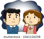 couple  great anxiety | Shutterstock .eps vector #1061126258