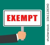 illustration of exempt word... | Shutterstock .eps vector #1061128340