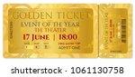 golden ticket template  concert ... | Shutterstock .eps vector #1061130758