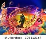 backdrop design of girl... | Shutterstock . vector #106113164