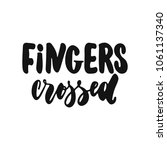 fingers crossed   hand drawn... | Shutterstock .eps vector #1061137340