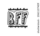 bff   best friend forever  ... | Shutterstock .eps vector #1061137409