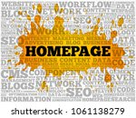 homepage word cloud collage ...   Shutterstock . vector #1061138279