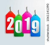 happy new year 2019 creative...   Shutterstock .eps vector #1061141390
