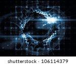 arrangement of light trails ... | Shutterstock . vector #106114379